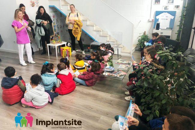 visita de un grupo de niñas y niños del Colegio García Lorca de Dos Hermanas
